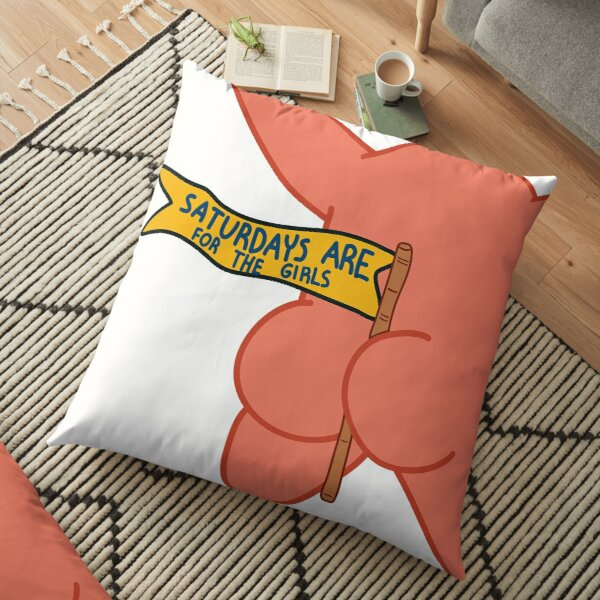 saturdays are for the girls patrick star Floor Pillow