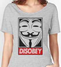 Dis-obey Women's Relaxed Fit T-Shirt