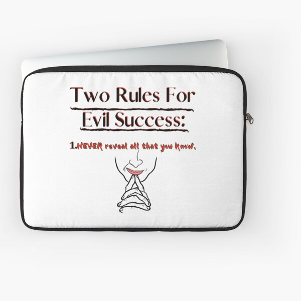 Rules for Evil Success Laptop Sleeve