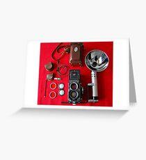 Rolleiflex Equipment Greeting Card