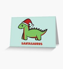 Santasaurus  Greeting Card