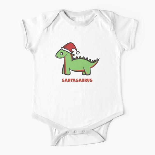Santasaurus  Short Sleeve Baby One-Piece