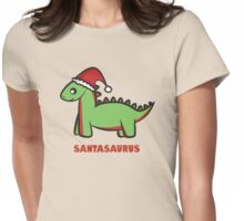 Santasaurus  Womens Fitted T-Shirt