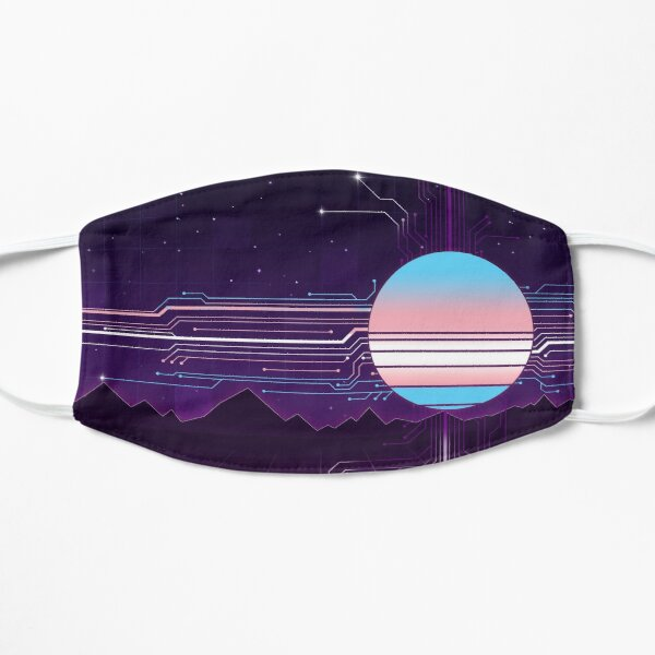 Circuits of the Sun - Trans Pride Flat Mask