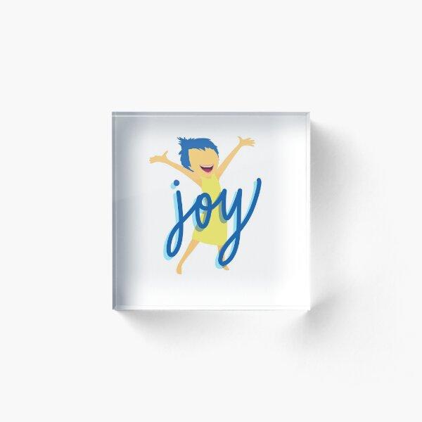 Joy Lettering Acrylic Block