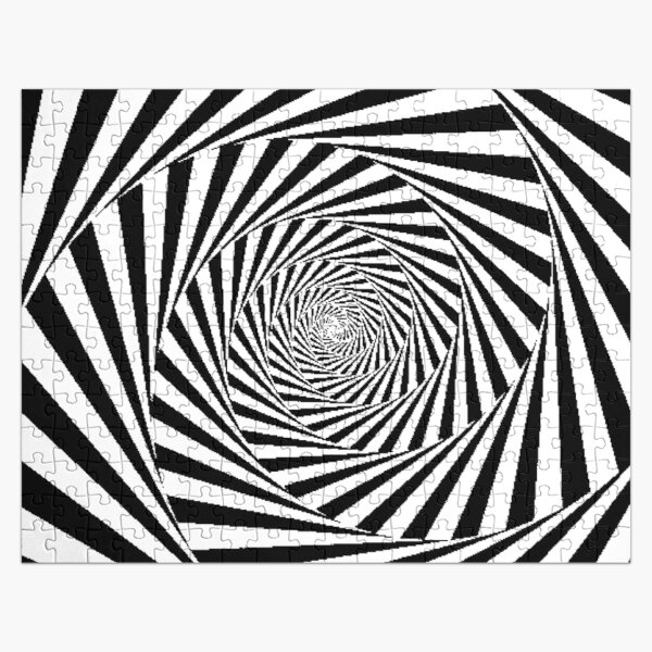 Espiral Hipnótica, Optical Illusion Beige Swirl Jigsaw Puzzle