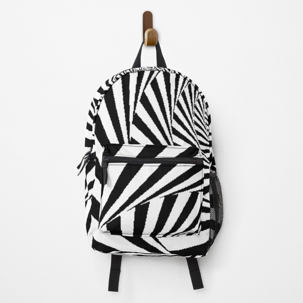 Optical Illusion Beige Swirl,  ur,backpack_front,square,1000x1000