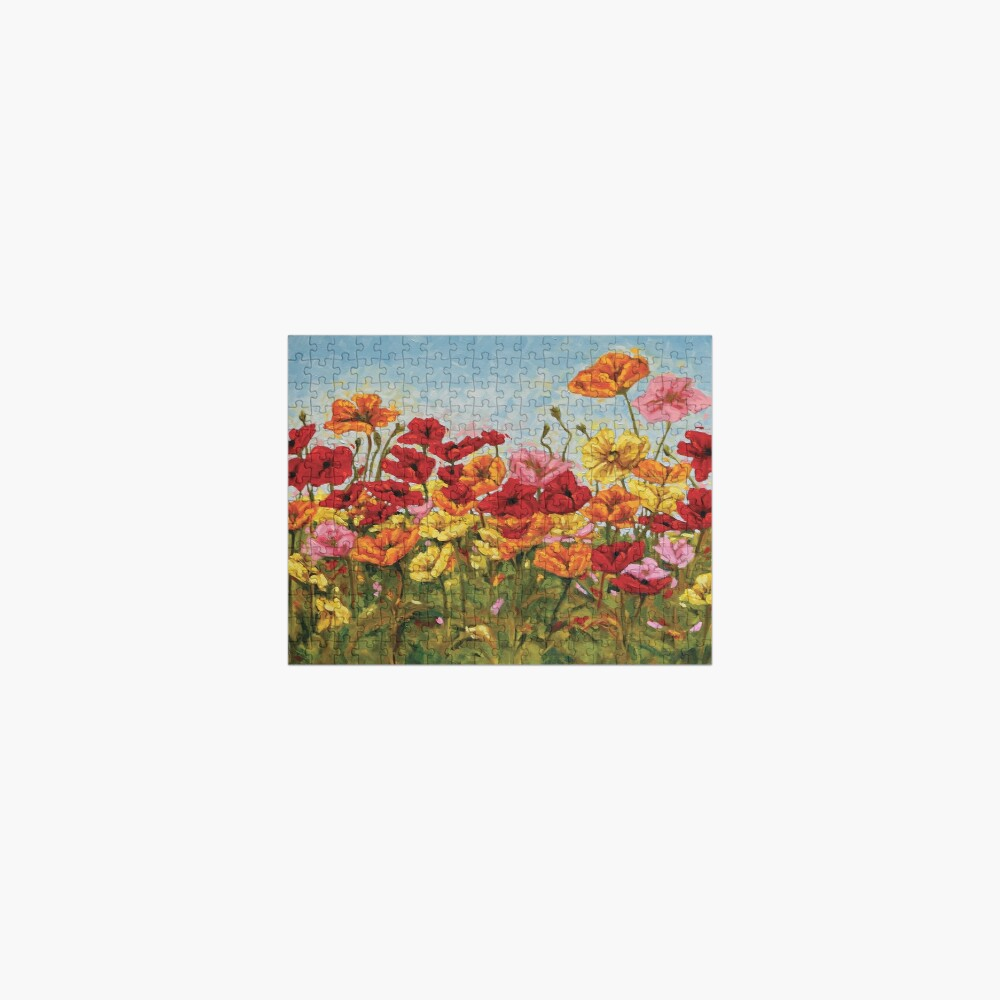 A Garden of Colorful Poppies Jigsaw Puzzle