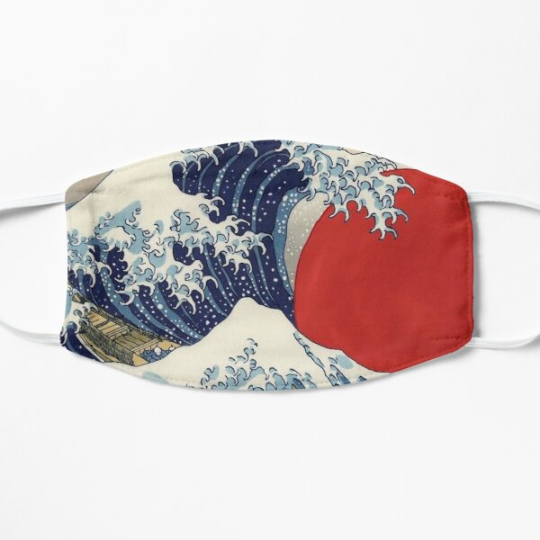 Sunset's Great Wave Japanese Painting Mask