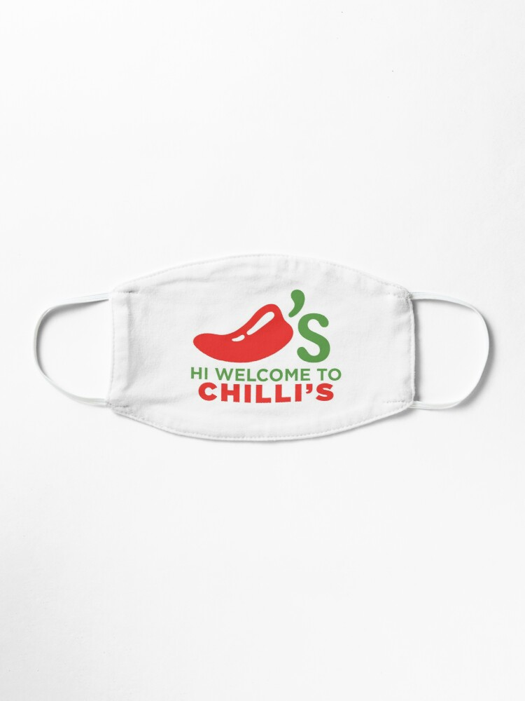 Alternate view of Hi Welcome to Chili's Mask