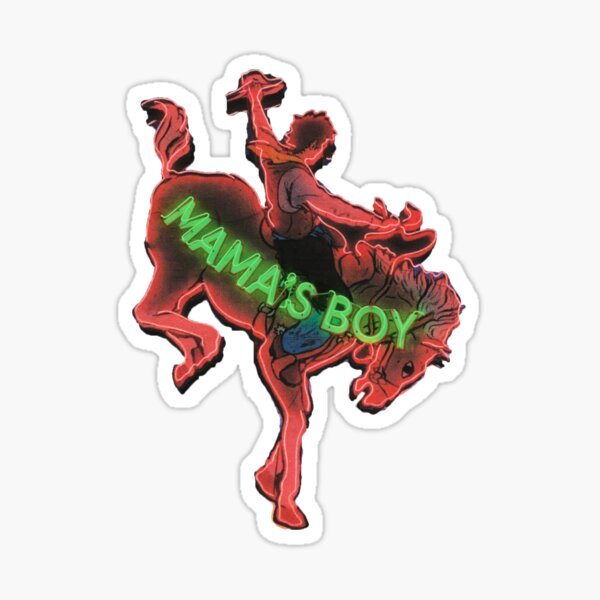 LANY mama's boy neon sign sticker Sticker