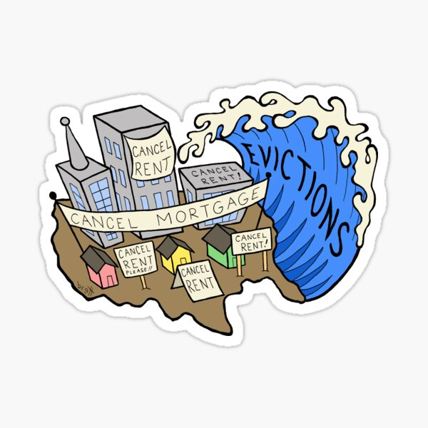 Evictions Tidal Wave Sticker