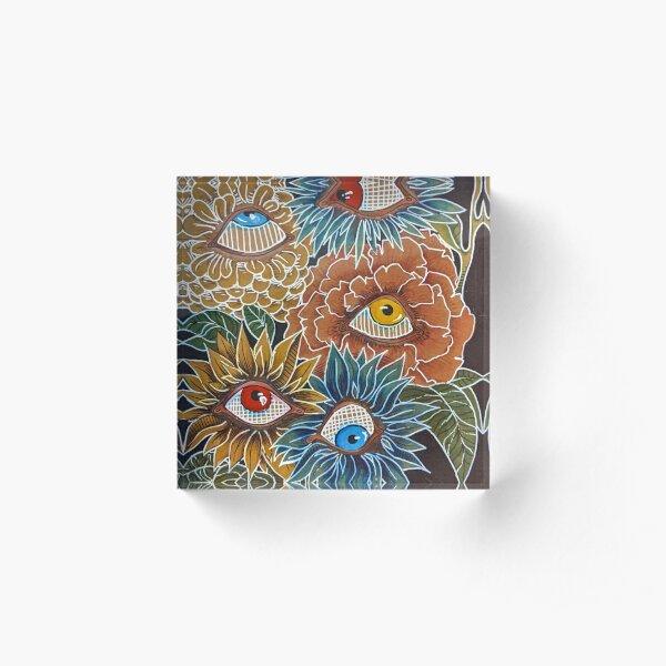 eye flowers  Acrylic Block
