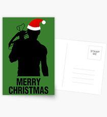 Daryl Dixon Christmas Design (Dark) Postcards