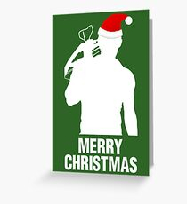 Daryl Dixon Christmas Design (Light) Greeting Card