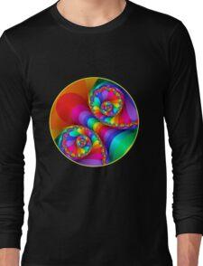Beautiful Rainbow Spiral For Apparel  Long Sleeve T-Shirt