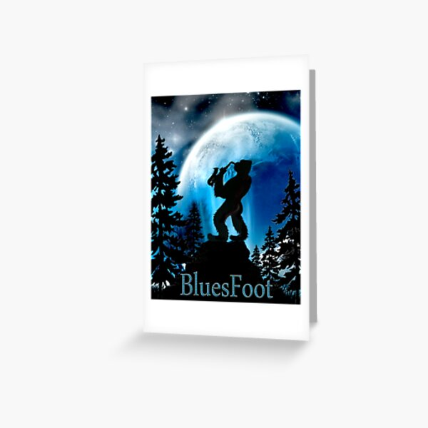 BluesFoot Greeting Card