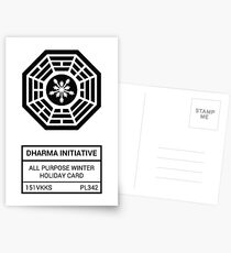 Postales Dharma Initiative All Purpose Winter Holiday Card