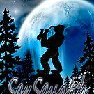 SaxSquatch by Sybilla Irwin
