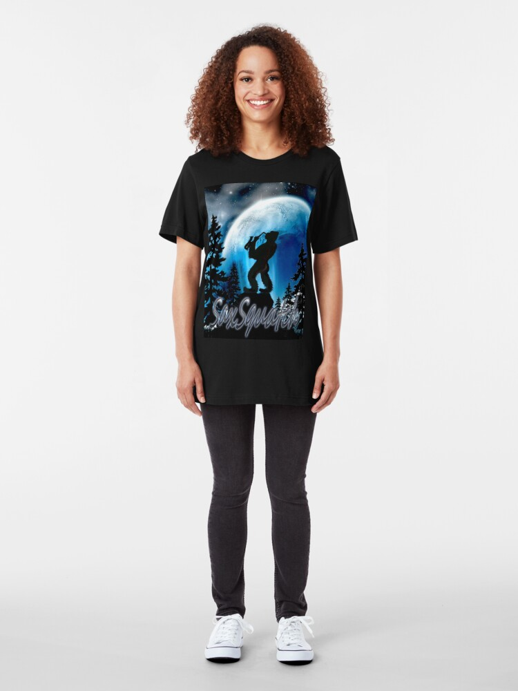 Alternate view of SaxSquatch Slim Fit T-Shirt