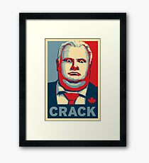 Rob Ford - CRACK Framed Print