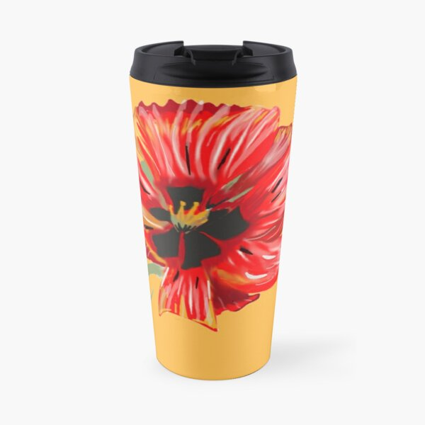 Poppy Flower Travel Mug