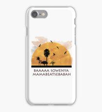 "funny lion king"" sunrise iPhone Case/Skin"