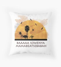 "funny lion king"" sunrise Throw Pillow"