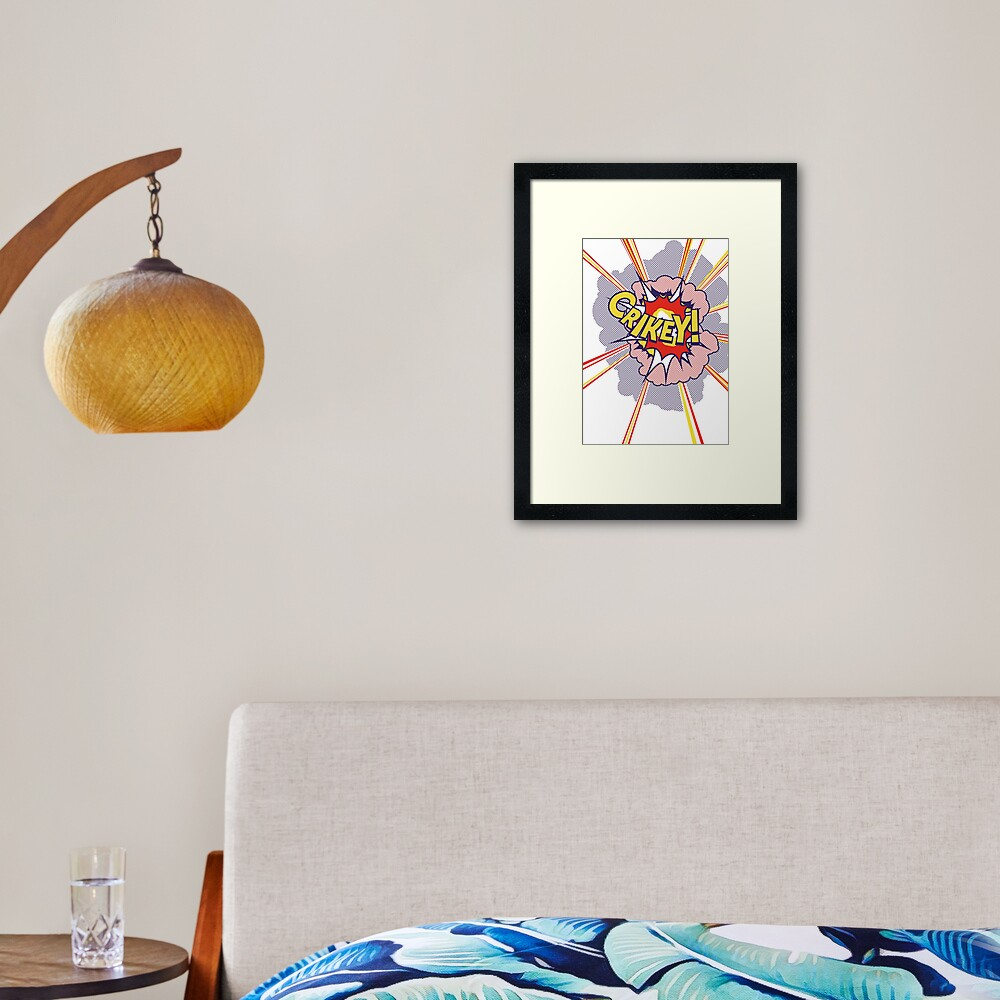 Crikey Roy! Framed Art Print