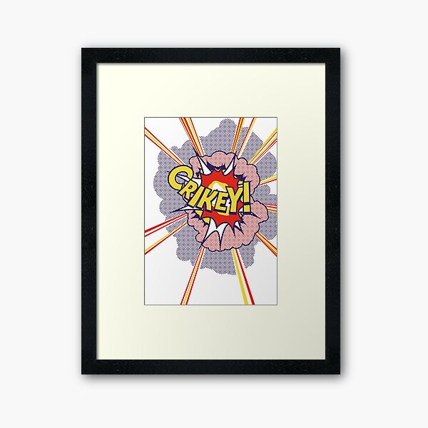 Crikey Roy! Framed Art Print