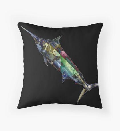 #marlinart Marlin Montage Throw Pillow