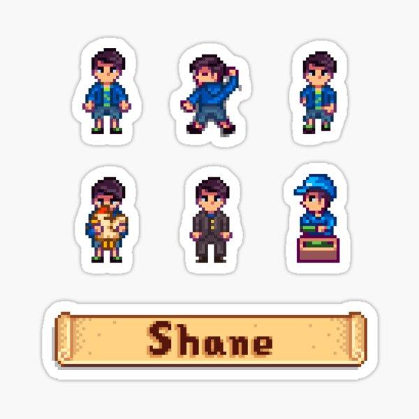 Stardew Valley Sprites - Shane Sticker