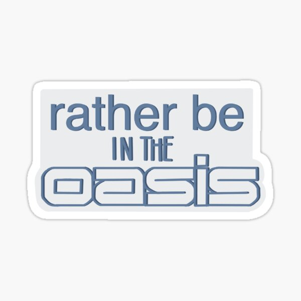 """Ready Player One- """"rather be in the oasis"""" Sticker"""