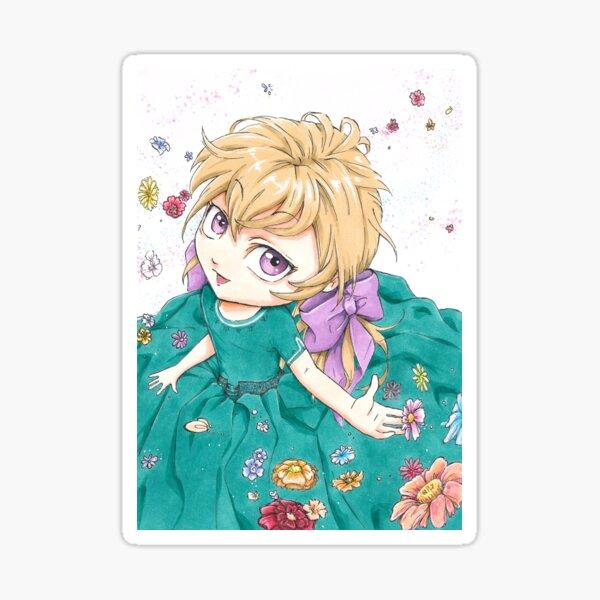 Petite fille en fleur Sticker