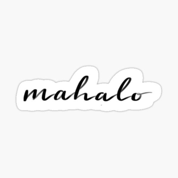 Mahalo Sticker Sticker