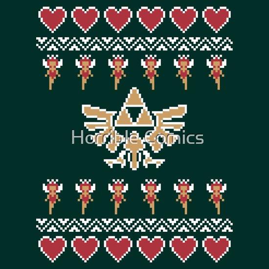 tshirtgifter presents hylian holiday sweater unisex t shirt - Legend Of Zelda Christmas Sweater