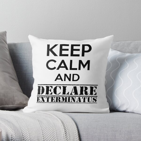 Keep calm and declare Exterminatus - Warhammer 40K Imperial liturgy Throw Pillow