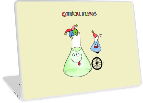 'Comical Flasks' Laptop Skin by Cartoon Neuron