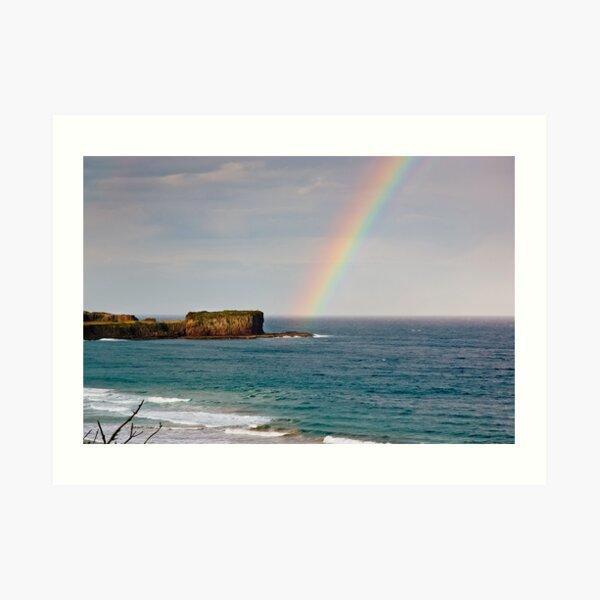 Rainbow over Bombo Headland Art Print