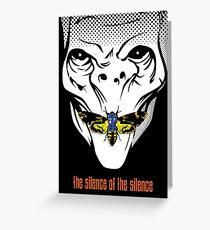 The silence of the Silence - Art Print Greeting Card