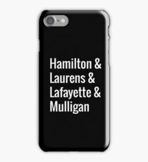 Hamilton Squad iPhone Case/Skin