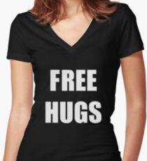 Free Hugs 2 Women's Fitted V-Neck T-Shirt