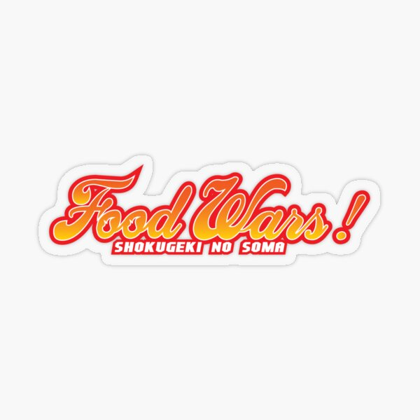 Food Wars Logo Transparent Sticker