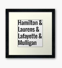 Hamilton Squad - White Framed Print