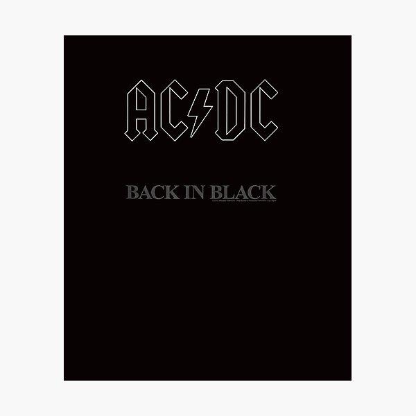 Camiseta ac dc Back In Black Album Lámina fotográfica