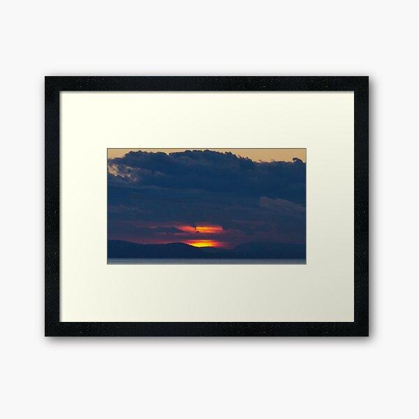 Slice of sunset Framed Art Print