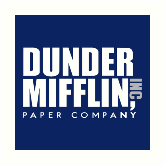 Quot Dunder Mifflin Logo Quot Art Print By Pickledbeets Redbubble