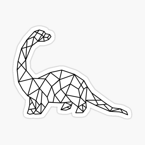 Pegatinas Geometric Dinosaur Redbubble They first appeared during the triassic period, between 243 and 233.23 million years ago. redbubble