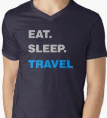 Eat Sleep Travel Men's V-Neck T-Shirt
