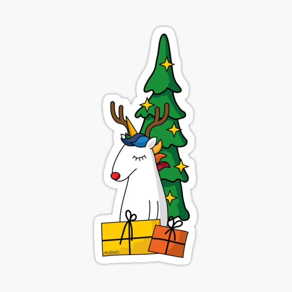 Unicorn christmas Sticker